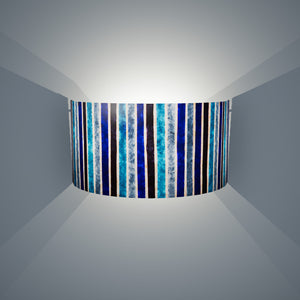 Wall Light - P05 - Batik Stripes Blue, 36cm(wide) x 20cm(h) - Imbue Lighting