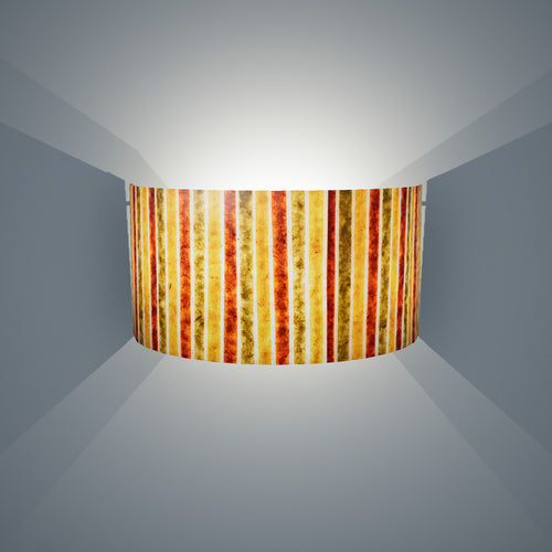 Wall Light - P06 - Batik Stripes Autumn, 36cm(wide) x 20cm(h) - Imbue Lighting