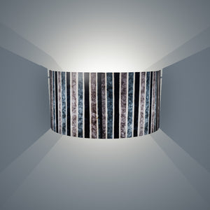Wall Light - P08 - Batik Stripes Grey, 36cm(wide) x 20cm(h) - Imbue Lighting