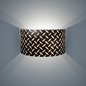 Wall Light - P11 - Batik Tread Plate Black, 36cm(wide) x 20cm(h) - Imbue Lighting