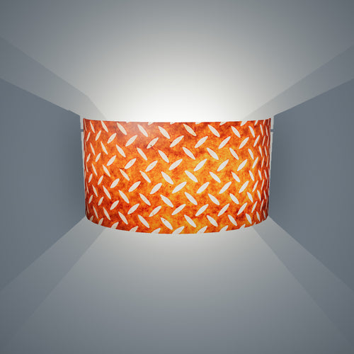 Wall Light - P12 - Batik Tread Plate Brown, 36cm(wide) x 20cm(h) - Imbue Lighting
