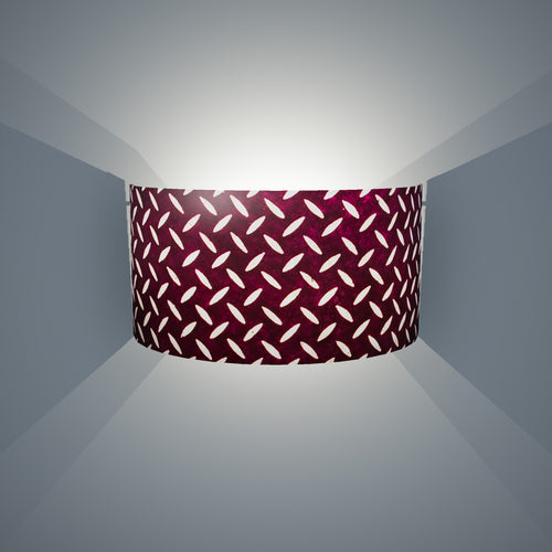 Wall Light - P13 - Batik Tread Plate Purple, 36cm(wide) x 20cm(h) - Imbue Lighting
