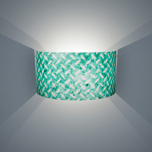 Wall Light - P15 - Batik Tread Plate Mint Green, 36cm(wide) x 20cm(h) - Imbue Lighting