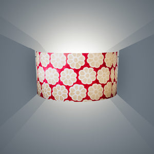 Wall Light - P22 - Batik Big Flower on Hot Pink, 36cm(wide) x 20cm(h) - Imbue Lighting