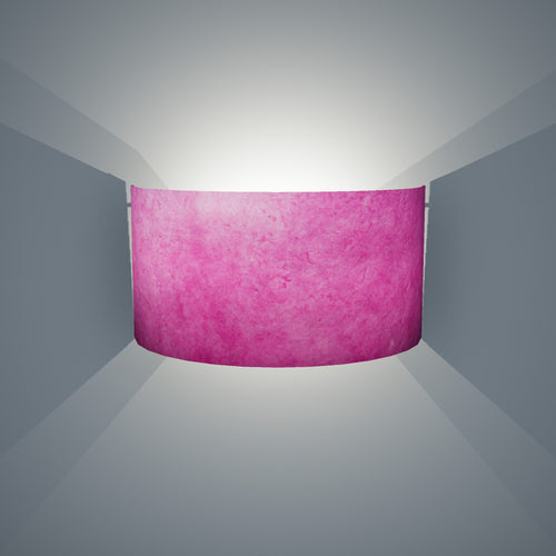 Wall Light - P57 - Hot Pink Lokta, 36cm(wide) x 20cm(h)