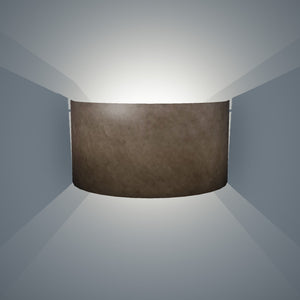 Wall Light - P58 - Brown Lokta, 36cm(wide) x 20cm(h)