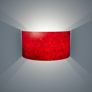 Wall Light - P60 - Red Lokta, 36cm(wide) x 20cm(h)