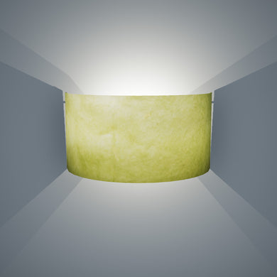 Wall Light - P61 - Lime Lokta, 36cm(wide) x 20cm(h)