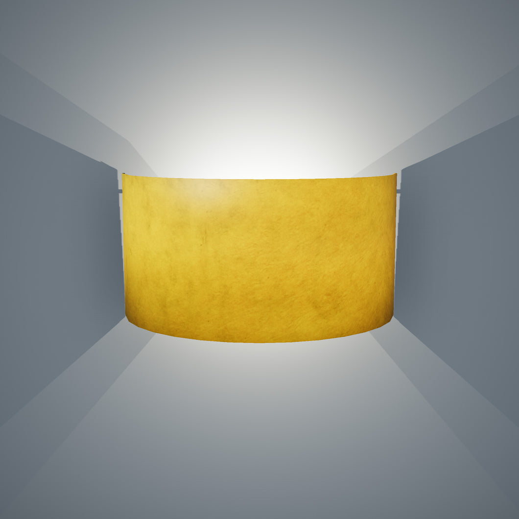 Wall Light - P62 - Yellow Lokta, 36cm(wide) x 20cm(h)