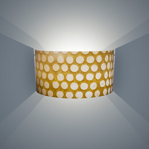 Wall Light - P86 ~ Batik Dots on Yellow, 36cm(wide) x 20cm(h)