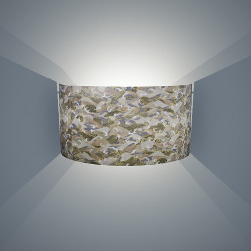 Wall Light - W03 - Gold Waves on Greys, 36cm(wide) x 20cm(h) - Imbue Lighting