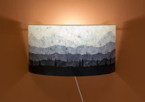 Original Ink Sketch Wall Light Shade (Blue)