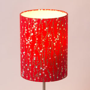 Triangle Lamp Shade - W01 ~ Red Daisies, 20cm(w) x 20cm(h)