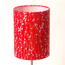 Drum Lamp Shade - W01 - Red Daisies, 15cm(d) x 20cm(h)