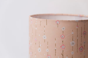 Triangle Lamp Shade - W07 ~ Peach Daisies, 40cm(w) x 40cm(h)