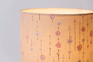 3 Panel Floor Lamp - W07 - Peach Daisies, 20cm(d) x 1.4m(h)