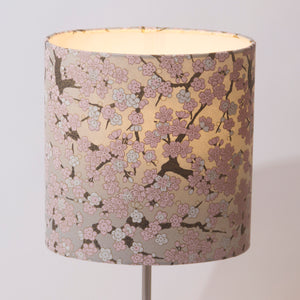 3 Tier Lamp Shade - W02 - Pink Cherry Blossom on Grey, 40cm x 20cm, 30cm x 17.5cm & 20cm x 15cm