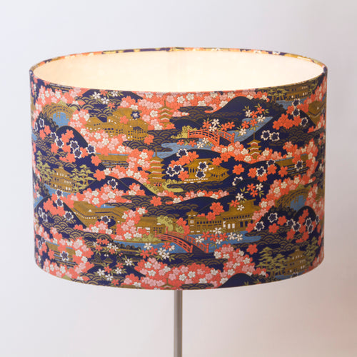 Oval Lamp Shade - W06 - Pagodas, 30cm(w) x 20cm(h) x 22cm(d) - Imbue Lighting