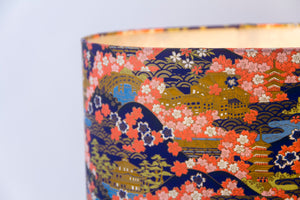 Drum Lamp Shade - W06 ~ Kyoto, 20cm(d) x 20cm(h)