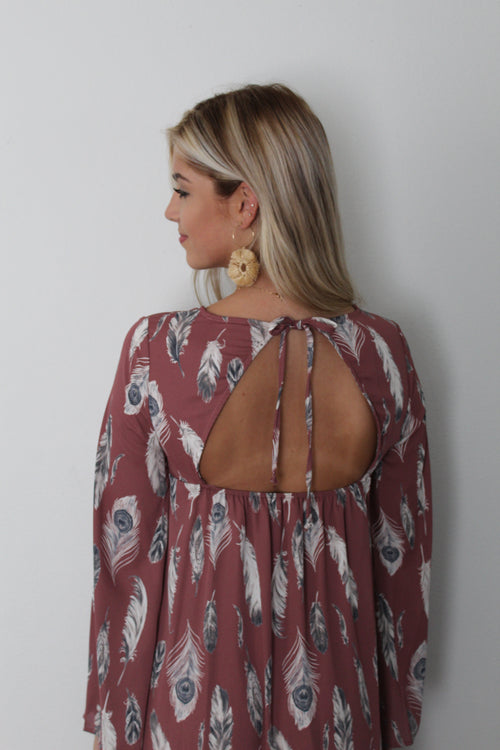 Boho Open Back Dress