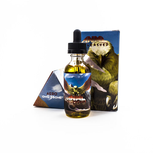 Aero by ANML Unleashed Vapors 60ml- cuttwood, juice roll upz, Vapetasia, VGOD, Vapor Juice