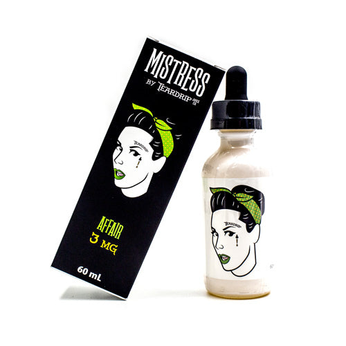 Affair Mistress by Teardrip Juice Co. 60ml- cuttwood, juice roll upz, Vapetasia, VGOD, Vapor Juice