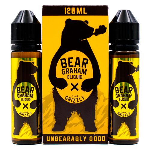 Grizzly by Bear Graham E-Liquid 120ml- cuttwood, juice roll upz, Vapetasia, VGOD, Vapor Juice