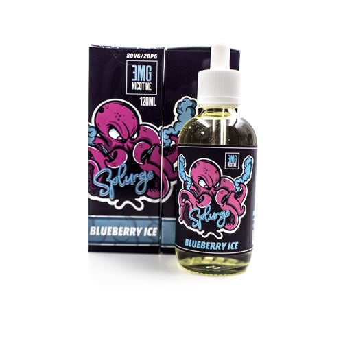 Blueberry Ice by Splurge Vape 120ml- cuttwood, juice roll upz, Vapetasia, VGOD, Vapor Juice