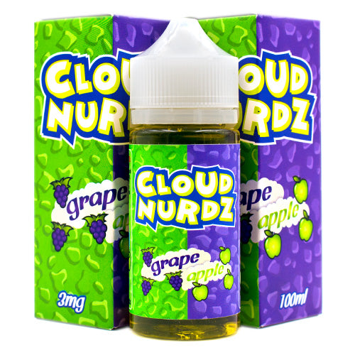 Grape Apple by Cloud Nurdz E-Juice 100ml- cuttwood, juice roll upz, Vapetasia, VGOD, Vapor Juice