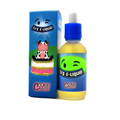 Cookie Craze by FJ's E-Liquid 60ml- cuttwood, juice roll upz, Vapetasia, VGOD, Vapor Juice