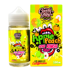 Apple Peach Sour Rings by Candy Shop E-Liquids 100ml- cuttwood, juice roll upz, Vapetasia, VGOD, Vapor Juice