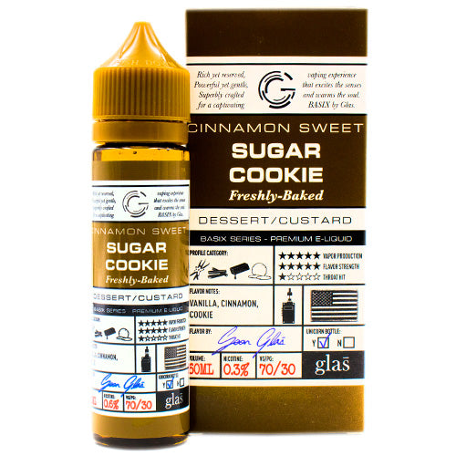 Sugar Cookie by Glas Basix E-Liquid 60ml