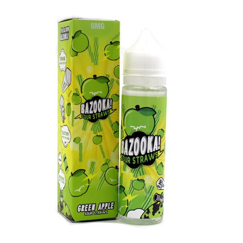 Green Apple Sour Straws by Bazooka Vape 100ml- cuttwood, juice roll upz, Vapetasia, VGOD, Vapor Juice