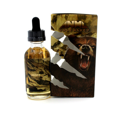 Grizzly by ANML Unleashed Vapors 60ml- cuttwood, juice roll upz, Vapetasia, VGOD, Vapor Juice