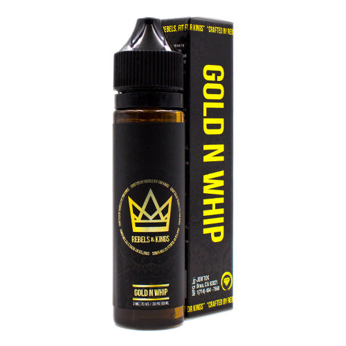 Gold N Whip by Rebels & Kings E-Juice 60ml- cuttwood, juice roll upz, Vapetasia, VGOD, Vapor Juice