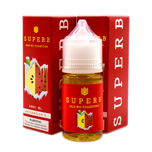 Applemelon X Saltnic by Superb E-Liquids Saltnic Collection 30ml- cuttwood, juice roll upz, Vapetasia, VGOD, Vapor Juice