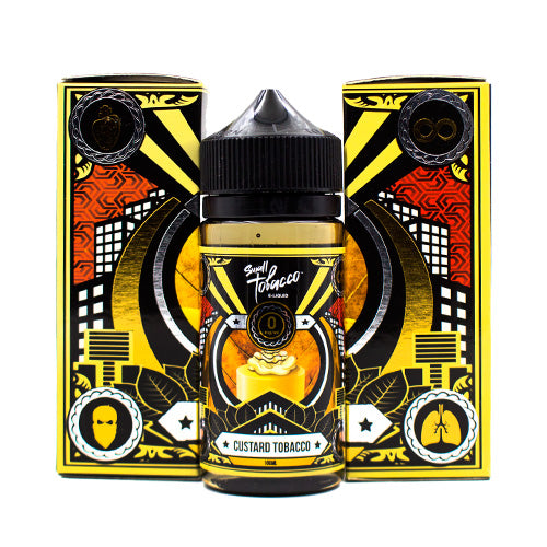 Custard Tobacco by Small Tobacco E-Liquid 100ml- cuttwood, juice roll upz, Vapetasia, VGOD, Vapor Juice