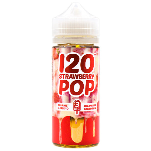 120 Strawberry Pop by Mad Hatter E-Juice 120ml- cuttwood, juice roll upz, Vapetasia, VGOD, Vapor Juice