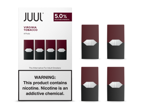 Virginia Tobacco 4 Pack Pods by Juul