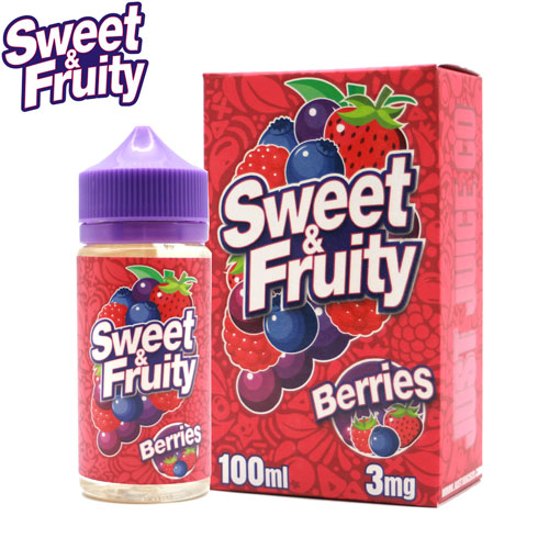 Berries by Sweet & Fruity E-Juice 100ml- cuttwood, juice roll upz, Vapetasia, VGOD, Vapor Juice
