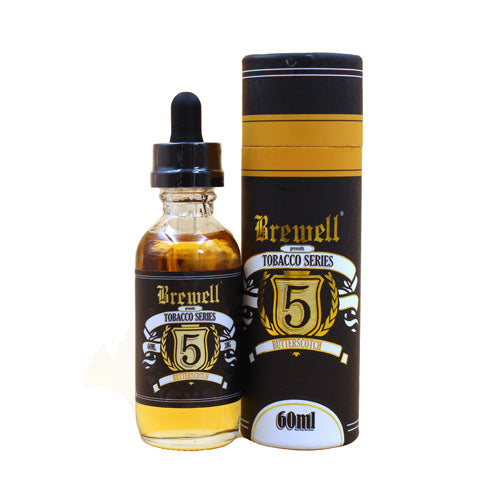 Butterscotch by Brewell Vapory Tobacco Series 60ml- cuttwood, juice roll upz, Vapetasia, VGOD, Vapor Juice