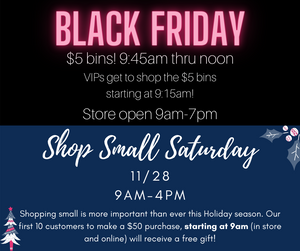 Black Friday & Shop Small Saturday