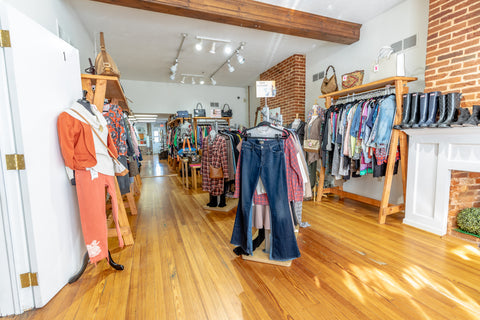 Inside front part of My Girlfriend's Wardrobe Consignment Store in Downtown York Pa