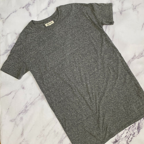 Madewell gray short sleeve tshirt dress size M
