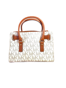 Michael Kors cream brown signature Hamilton bag