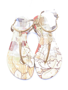 Tory Burch nude patent leather thong sandals size 8.5 - My Girlfriend's Wardrobe York Pa