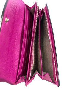 Michael Kors black and pink leather wallet