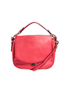 Kate Spade neon red/pink convertible satchel