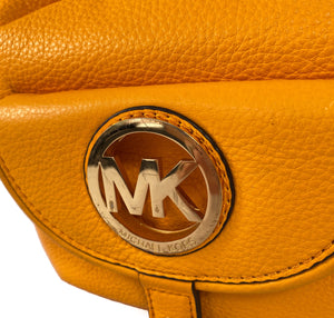 Michael Kors yellow leather shoulder bag - My Girlfriend's Wardrobe LLC