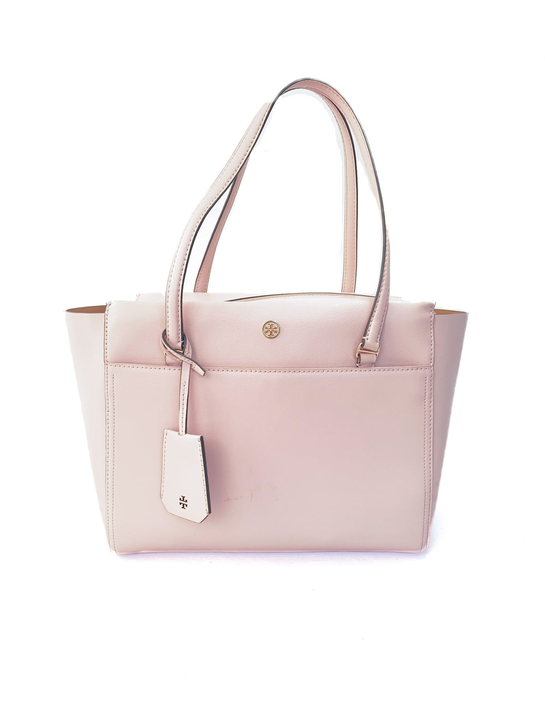 Tory Burch light pink leather tote